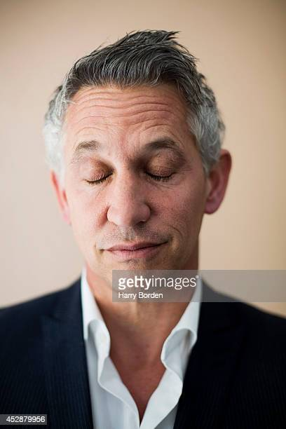 Tv presenter and former professional footballer Gary Lineker is photographed for the Guardian on May 14 2014 in London England