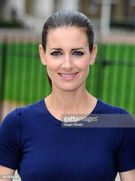 Tv presenter and model Kirsty Gallacher is photographed on April 25 2014 in London England