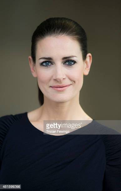 Tv presenter and model Kirsty Gallacher is photographed on March 28 2014 in London England