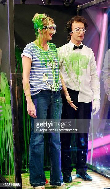 Tv presenter Anna Simon attends 'El Hormiguero' Tv Show on November 4, 2015 in Madrid, Spain.