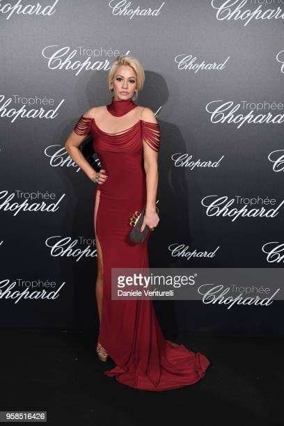 Tv Presenter Ashley Hutson attends the Chopard Trophy during the 71st annual Cannes Film Festival at Martinez Hotel on May 14 2018 in Cannes France
