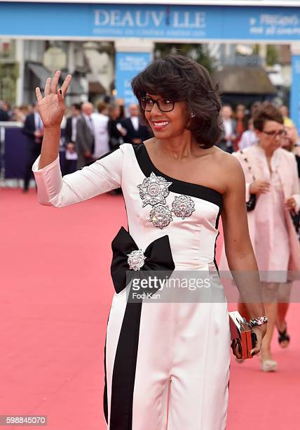 tV presenter Audrey Pulvar from the Kiehl's Jury attends the 'Infiltrator' Deauville Premiere as part of 42nd Deauville American Film Festival...