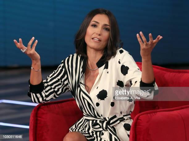 Tv presenter Caterina Balivo attends 'Vieni Da Me' Tv show at RAI Dear Studios on September 10 2018 in Rome Italy