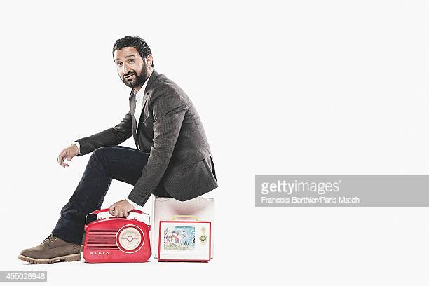 Tv presenter Cyril Hanouna is photographed for Paris Match on August 21, 2014 in Paris, France.