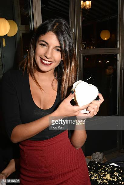 tV presenter Donia Eden attends Apero Milk Hosted by Grand Seigneurs Culinary Magazine at Bistrot le Marguerite on October 13 2016 in Paris France