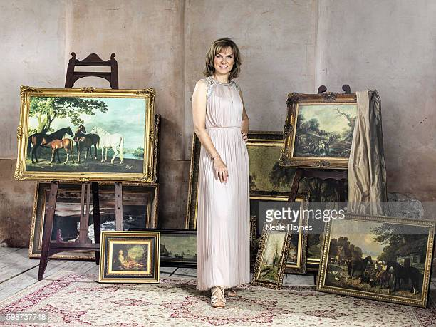 Tv presenter Fiona Bruce is photographed for the Daily Mail on July 5 2016 in London England