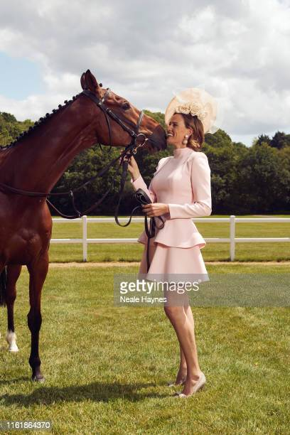 Tv presenter Francesca Cumani is photographed for the Daily Mail on June 3 2019 in Ascot England