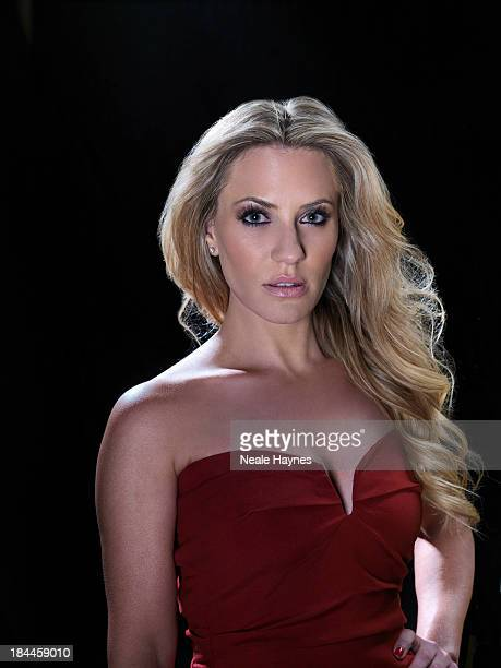 Tv presenter Georgie Thompson is photographed for Live magazine on June 16 2012 in London England