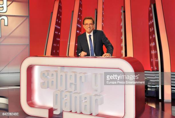 Tv presenter Jordi Hurtado attends the 20th Anniversary of the Tv contest 'Saber y Ganar' on February 16 2017 in Madrid Spain