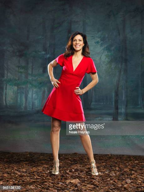 Tv presenter Julia Bradbury is photographed for the Daily Mail on January 16 2018 in London England