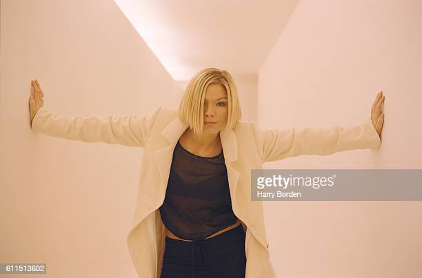 Tv presenter Kate Thornton is photographed for the Mail on Sunday on February 4 2004 in London England