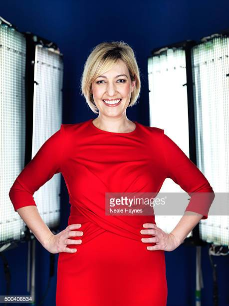 Tv presenter Kelly Cates is photographed for Channel 4 on January 16 2014 in London England