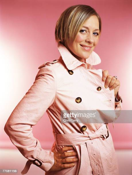 Tv presenter Sarah Beeny poses for a portrait shoot for Sunday Express magazine in London on June 23 2005