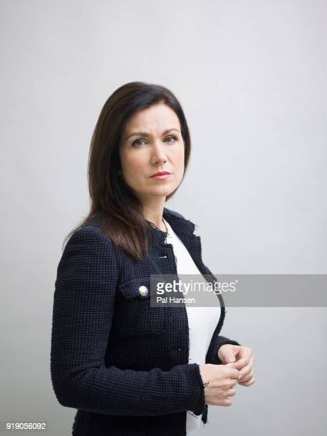 Tv presenter Susanna Reid is photographed for the Guardian on October 27 2017 in London England