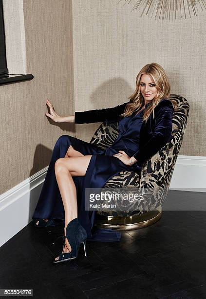 Tv presenter Tess Daly is photographed for Hello magazine on October 7 2015 in London England