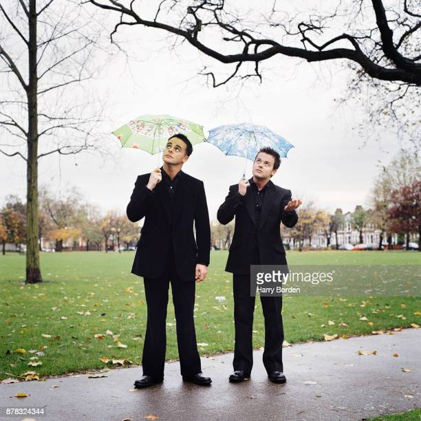 Tv presenters Ant and Dec are photographed for Observer on November 11 2002 in London England
