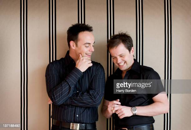 Tv presenters Declan Donnelly and Anthony McPartlin aka Ant Dec are photographed for Glamour magazine on January 24 2006 in London England