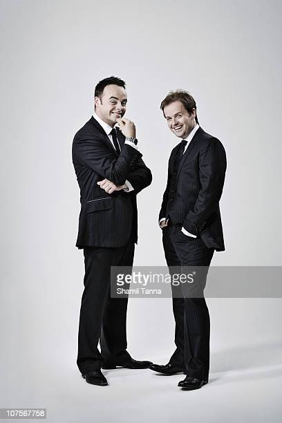Tv presenters Declan Donnelly and Anthony McPartlin pose for a portrait shoot in London on September 21 2010