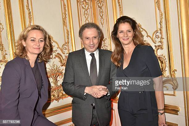 Tv presenters Guilaine Chenu Michel Drucker and Francoise Joly attend 'Autistes Sans Frontieres' Gala Dinner Arrivals at Hotel Marcel Dassault on...