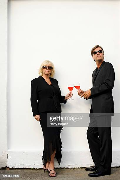 Tv presenters Richard Madeley Judy Finnigan are photographed for Live Night Day magazine on May 10 2001 in London England