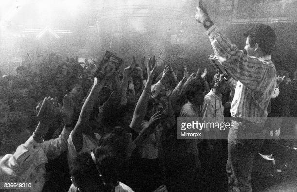 Tv Programme Top of The Pops, 3rd March 1989 Teenage fans get the warm up treatment from Alex Joannou before the Tv cameras rolls for the show.