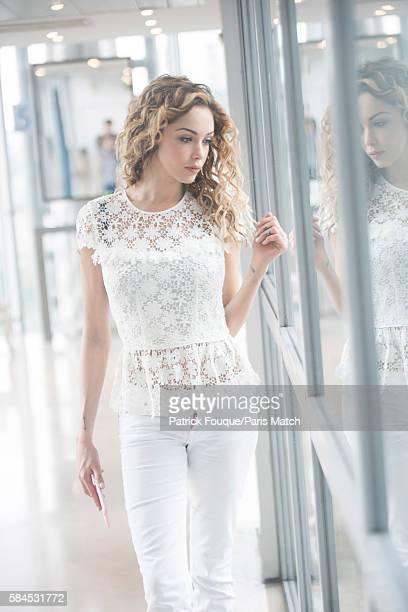 Tv reality star Nabilla Benattia is photographed for Paris Match on June 7 2016 in Paris France