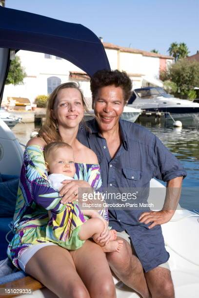 Tv science presenter and writer Igor Bogdanoff is photographed with his wife Amelie de BourbonParmes and their son Alexandre for Paris Match on...
