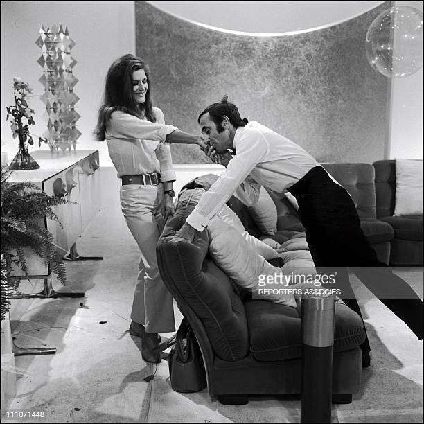 Tv Show Dalida And CAznavour Charles Aznavour And Dalida In France On October 03 1967