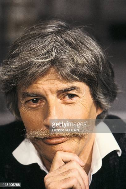 Tv With Jean Ferrat On December 16th 1985 In ParisFrance