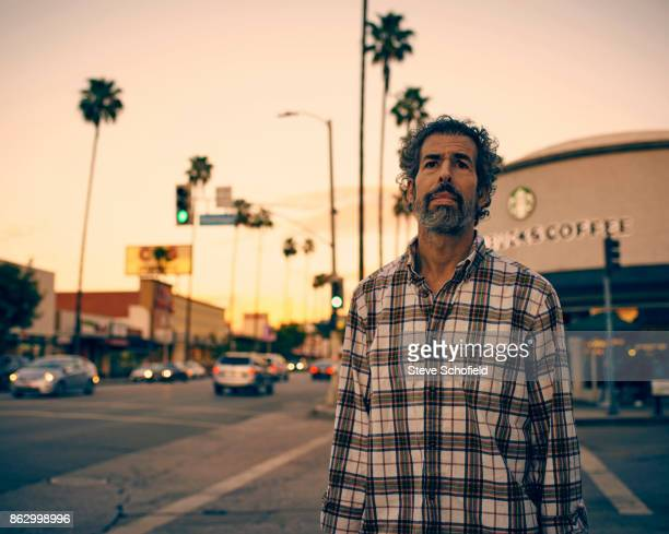 Tv writer and reality television personality Rick Rosner is photographed for FHM magazine on October 28 2014 in Los Angeles California