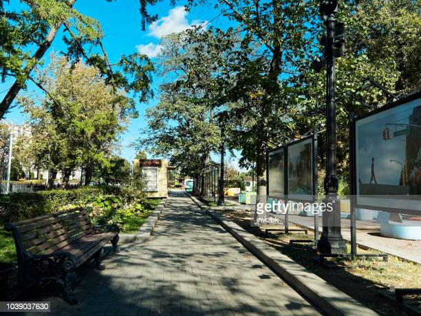 tverskoy boulevard in moscow - boulevard stock pictures, royalty-free photos & images