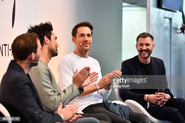 TVhost Alexander Mazza and TVhost Jochen Schropp attend the Bunte Beauty Days at Messe Muenchen on October 29 2017 in Munich Germany
