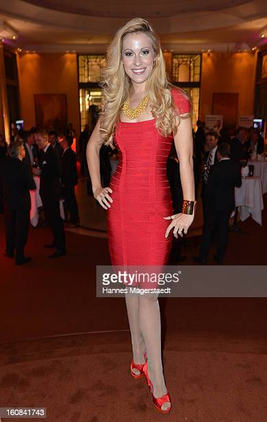 TVhost Andrea Kaiser attends the Best Brands 2013 Gala at Bayerischer Hof on February 6 2013 in Munich Germany