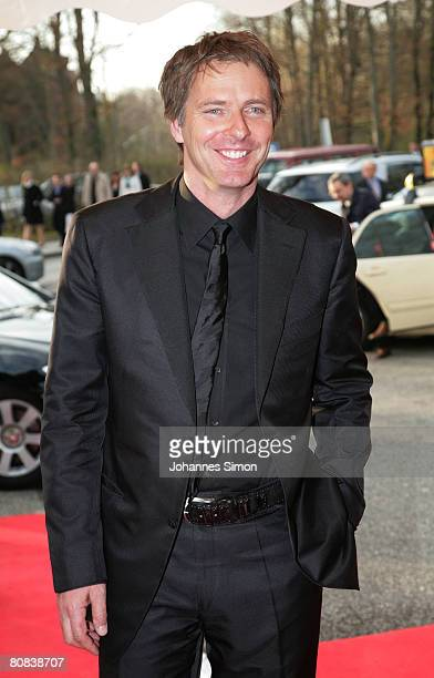 TVhost Joerg Pilawa arrives for the TVshow Congratulations Karlheinz Boehm A Life For Africa at Bavaria Film television studios on April 23 2008 in...