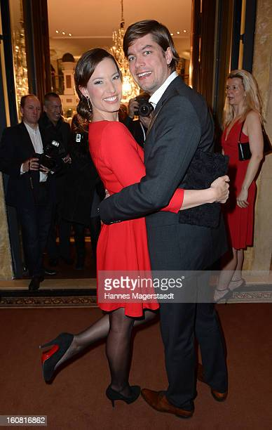 TVhost Kim Heinzelmann and Sebastian Orth attend the Best Brands 2013 Gala at Bayerischer Hof on February 6 2013 in Munich Germany
