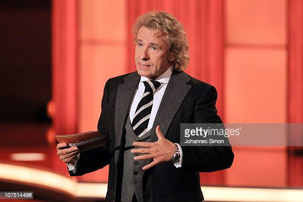 Host Thomas Gottschalk presents the 'Menschen 2010' TV Show on December 10, 2010 in Munich, Germany.