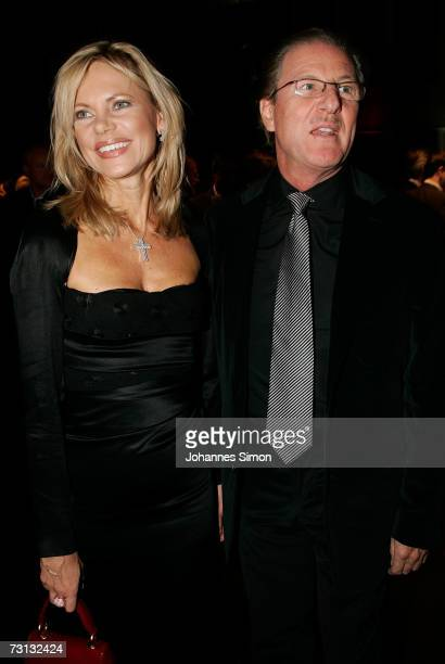 TVhostess Nina Ruge and her husband Wolfgang Reitzle CEO of German gases and forklift maker Linde AG attend the Kitzrace Party January 27 in...