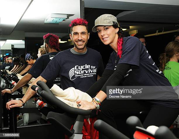 Vpersonality Ethan Zahn and Jenna Morasca attend 2012 Cycle For Survival Day 2 at Equinox Graybar on February 12 2012 in New York City