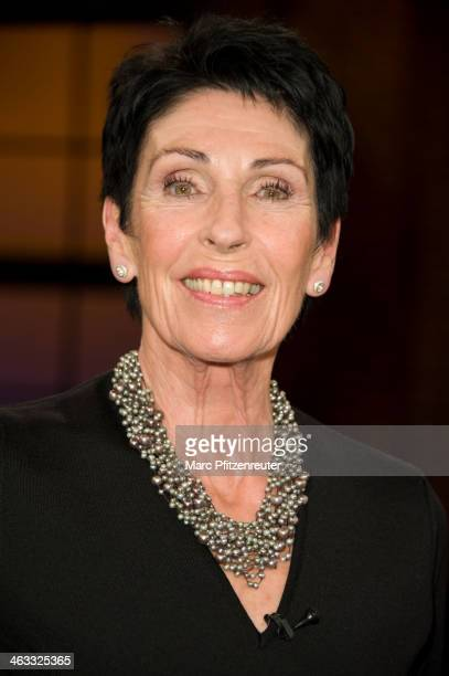 TVpresenter Erika Berger attends the Koelner Treff TV Show at the WDR Studio on January 17 2014 in Cologne Germany