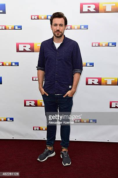 Presenter Jan Koeppen attends the offical Television programm-preview of german television production RTL on July 17, 2014 in Hamburg, Germany. He...