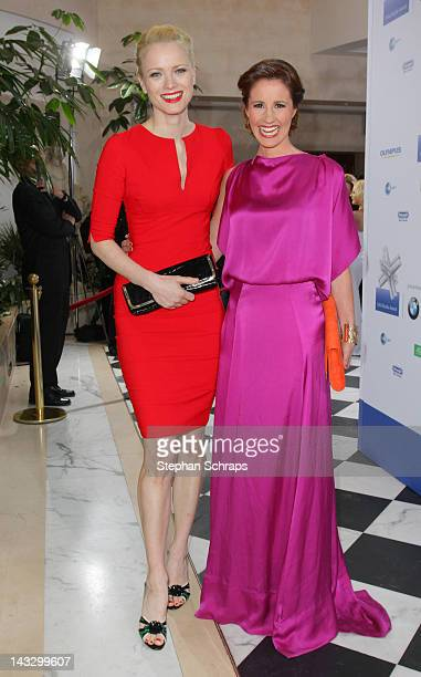 TVpresenter Mareile Hoeppner and model Franziska Knuppe attend the award ceremony of the 'Felix Burda Award' at the Hotel Adlon Unter den Linden on...