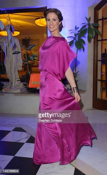 TVpresenter Mareile Hoeppner attends the award ceremony of the 'Felix Burda Award' at the Hotel Adlon Unter den Linden on April 22 2012 in Berlin...