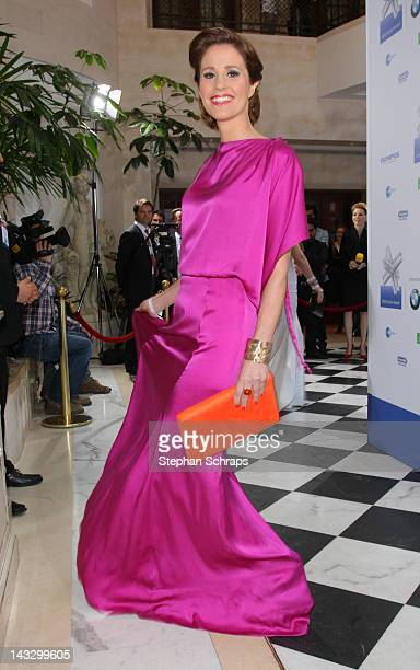 TVpresenter Mareile Hoeppner attends the award ceremony of the 'Felix Burda Award' at the Hotel Adlon Unter den Linden on April 22 2012 in Berlin...