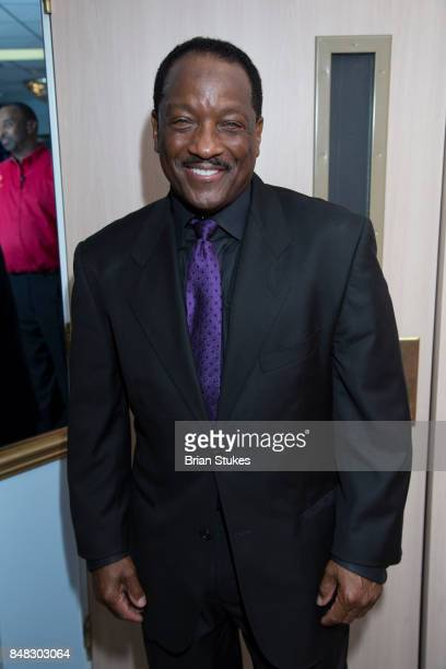 TV/radio personality Donnie Simpson attends Dick Gregory Celebration Of Life at City of Praise Family Ministries on September 16 2017 in Landover...