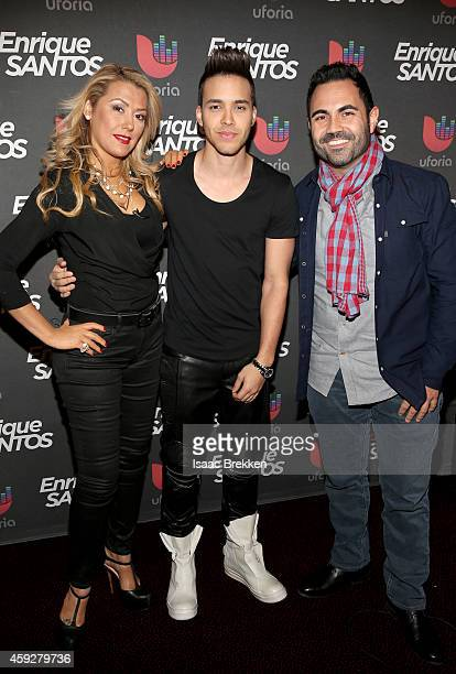 TV/radio personality Luisa Fernanda singer Prince Royce and TV/radio personality Enrique Santos attend the Univision Radio Remotes during the 15th...