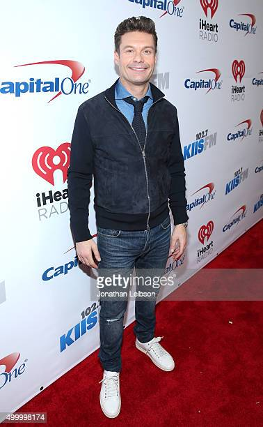 TV/radio personality Ryan Seacrest attends 1027 KIIS FM's Jingle Ball 2015 Presented by Capital One at STAPLES CENTER on December 4 2015 in Los...