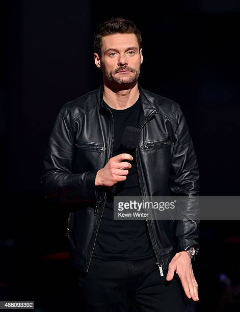 TV/radio personality Ryan Seacrest speaks onstage during the 2015 iHeartRadio Music Awards which broadcasted live on NBC from The Shrine Auditorium...