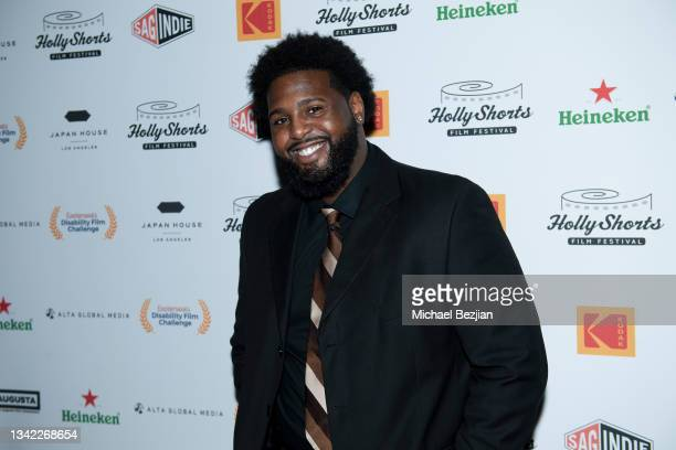Twan Marcel Pope arrives at 17th Annual Oscar-Qualifying HollyShorts Film Festival Opening Night at Japan House Los Angeles on September 23, 2021 in...