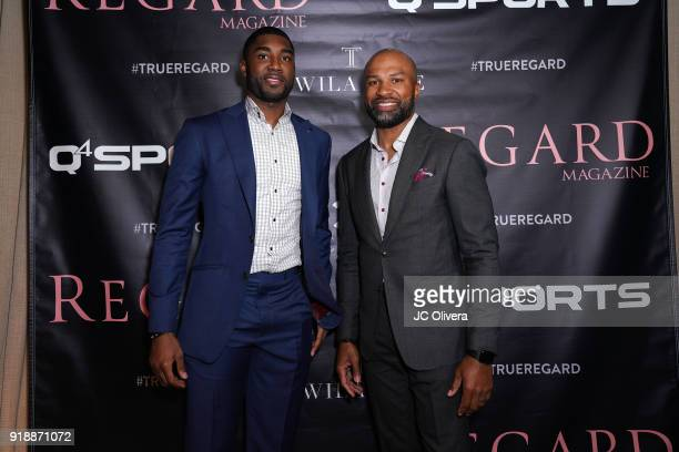 Twaun Moore and Derek Fisher attend Regard Magazine 2018 NBA AllStar PreParty hosted by Derek Fisher at Soho House on February 15 2018 in West...