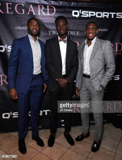 E'Twaun Moore Quintin Williams and Choice Skinner attend Regard Magazine 2018 NBA AllStar PreParty hosted by Derek Fisher at Soho House on February...